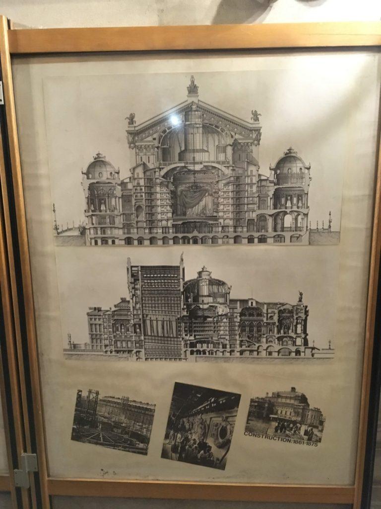 フランス-パリ-オペラ座-ガルニエ宮内部輪切り図面